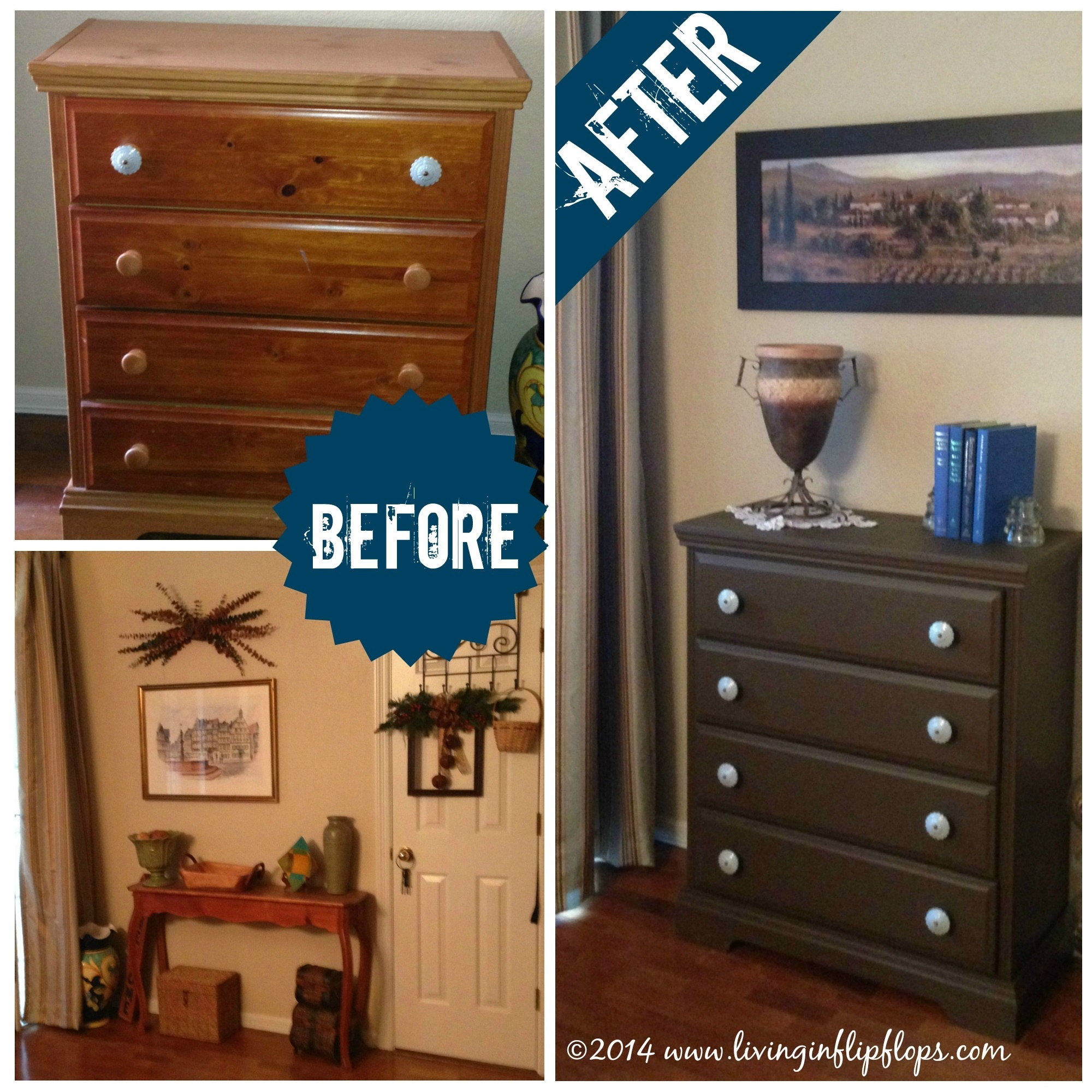 Before And After Diy Furniture Restore Pine Dresser 2a